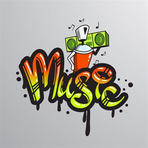 graffiti word character print   vectors