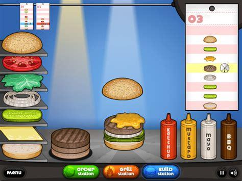 jeux de cuisine papa louis jeux de cuisine les burgers de papa louis