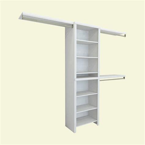 closetmaid impressions 5 ft 10 ft white basic closet
