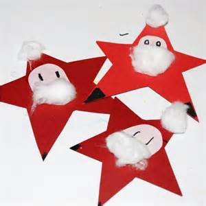 kids get crafty nikolaus sterne or santa stars red ted