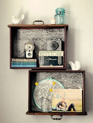 Turn Dresser Drawers Into Shelves by Diy Dresser Drawers Into Shelves For The Home