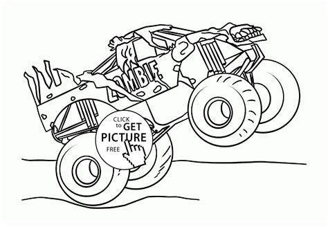 monster truck jam videos for kids pin monster jam coloring page pages on pinterest