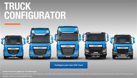 semi truck configurator daf euro 6 model range commercial vehicles galway