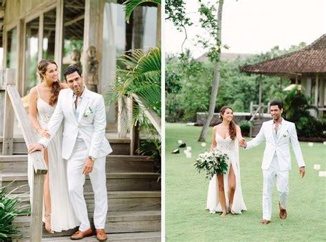 bali barefoot wedding at sungai tinggi beach villa gusmank