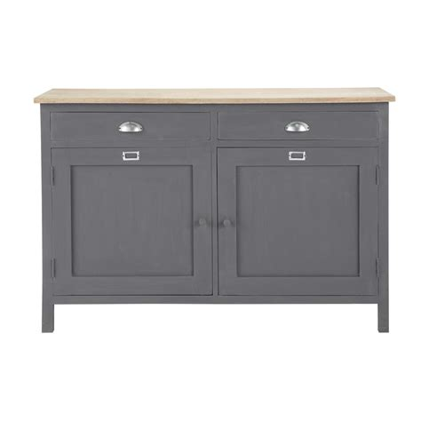 Buffet And Sideboard Tables Wooden Sideboard In Grey W 125cm Chablis Maisons Du Monde