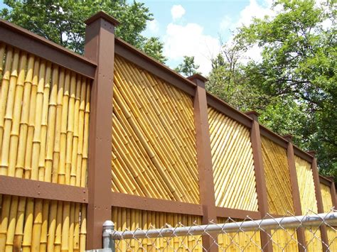 backyard bamboo fencing using bamboo in home decoration