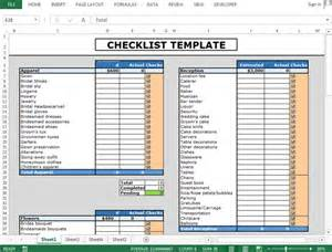 how to make template in excel how to use checkboxes to create checklist template in