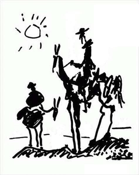 picasso paintings don quixote shakespeare lost and found javen