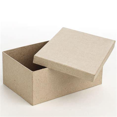 How To Make Rectangular Paper Box - rectangle paper mache box paper mache basic craft