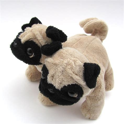 pug plushies pug conjoined stuffed recycled stuffed soft sculpture toys