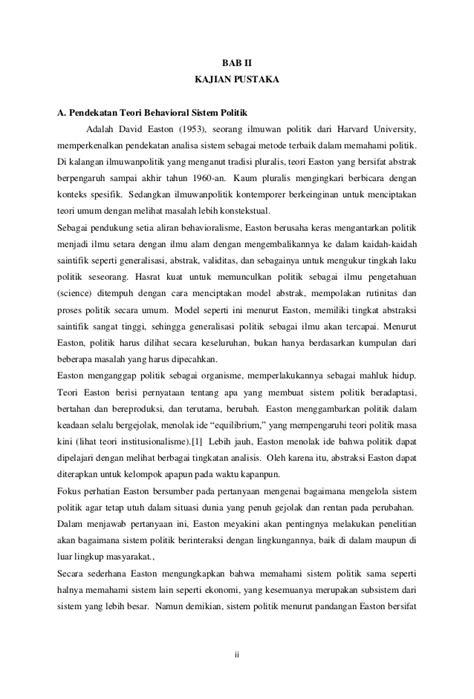 Teori Dan Metode Dalam Ilmu Politik David Marsh sistem politik di indonesia