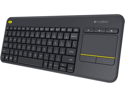 Keyboard Plus Mouse Logitech logitech wireless touch keyboard k400 plus pc to tv en us