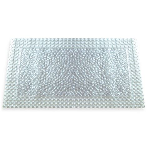 bed bath and beyond shower mat buy grande bath mat in clear from bed bath beyond