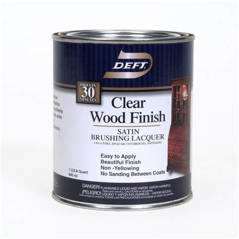 Clear Wood Stain Interior by Deft 1 Qt Satin Interior Clear Wood Finish Brushing