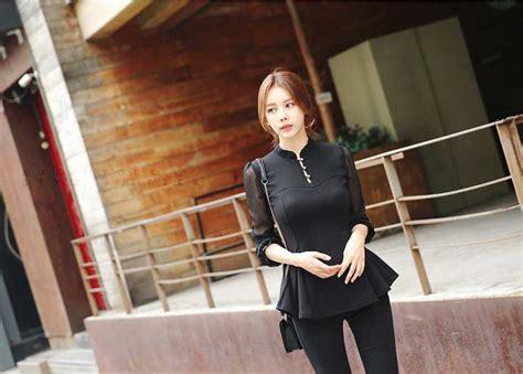Bra Modis Hitam Import 2 blouse hitam cantik terbaru import 2016 myrosefashion