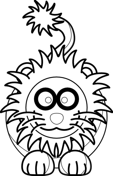 Lion clipart black and white, Lion black and white