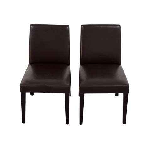 Crate And Barrel Dining Chairs 90 Crate And Barrel Crate Barrel Brown Leather Dining Chairs Chairs