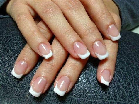 Nägel Lackieren French by Led Polish Manicure In Ombre On The Natural Nails Classic