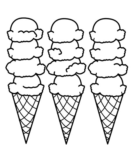 ice cream coloring pages pdf ice cream sundae coloring page clipart panda free
