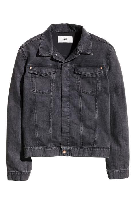 Jaket Denim H M Denim Jacket Black Sale H M Us