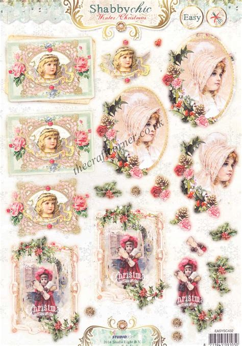 Die Cut Decoupage Sheets - studio light shabby chic die cut