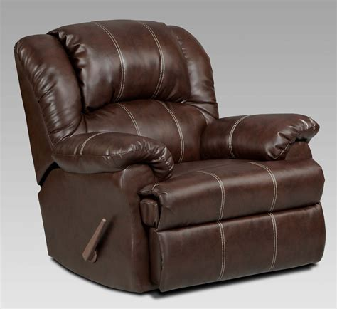 Top Recliner by Roundhill Furniture Brandan Bonded Leather Dual Rocker