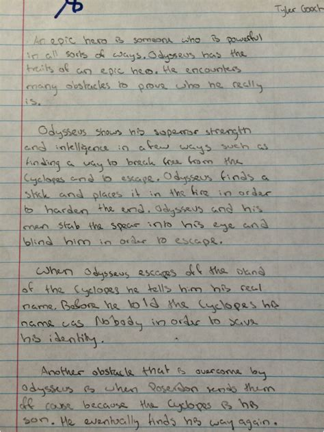 Heroes Essay by Academic Essay Gooch S Weebly