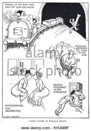 illustration, railway ribaldry by w heath robinson    how
