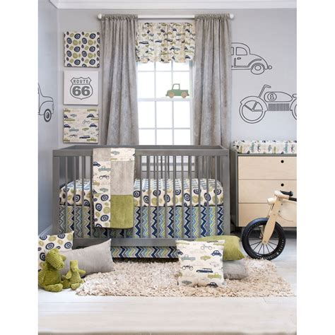 Sweet Potato Uptown Traffic 3 Piece Crib Bedding Set Sweet Potato Crib Bedding