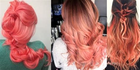 coral hair color awesome coral hair colors the haircut web