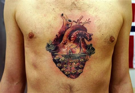 tattoo placement meaning chest heart tattoo chest placement tattoo ideas pinterest