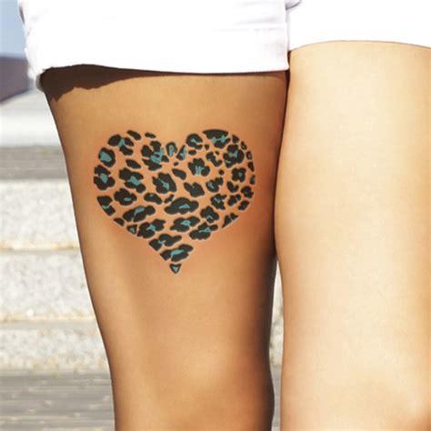 Leopard Print Tattoo Meanings And Creative Design Ideas Cheetah Print Tattoos On Thigh