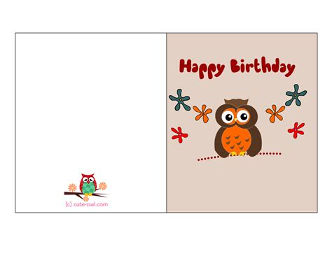 Free b-day cards to print for men