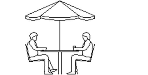 Patio Table Dwg Cad Forum Block Table With Umbrella 2