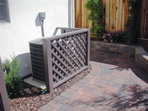 Landscape Ideas To Hide Air Conditioner Unit T Arbors And Trellis Traditional Landscape Other