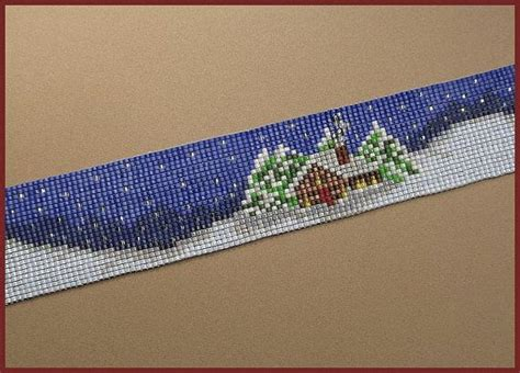 bead loom software snowy cabin bead loom cuff pattern cabin