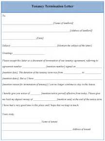 Template For Ending Tenancy Agreement by Letter Template For Tenancy Termination Sle Of Tenancy