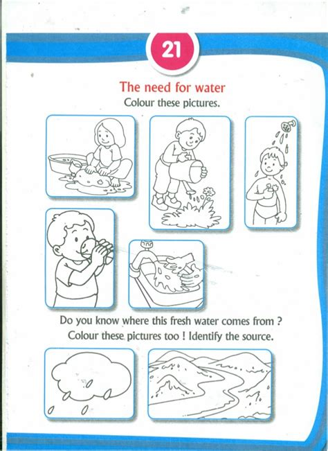Save Water Worksheets For Kindergarten by Activity Book For The Third Year