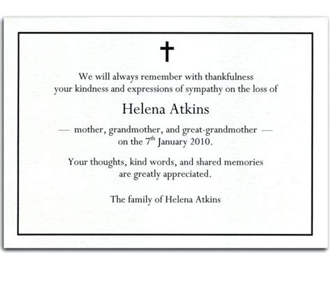 sympathy thank you cards templates sympathy thank you card template funeral cards bulk luxury