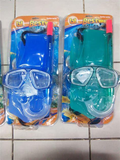 Pelung Untuk Anak Untuk Renang Atau Snorkling jual alat snorkling untuk anak 7 14thn paket fin kacamata