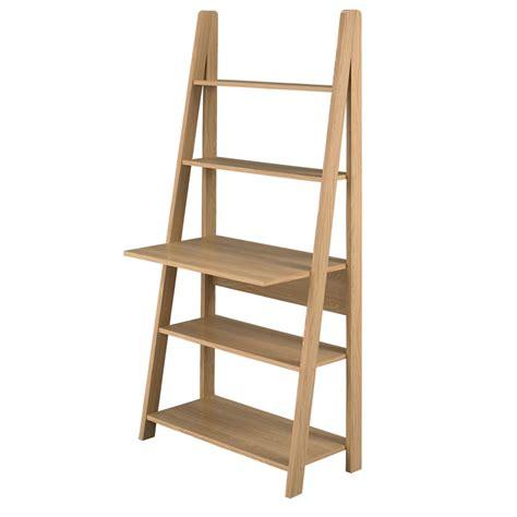 Ladder Office Desk Wilko Scandinavia Ladder Desk Oak At Wilko