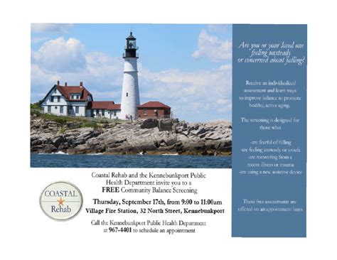 Coastal Detox Fax by Coastal Rehab Health Dept Free Balance Screening