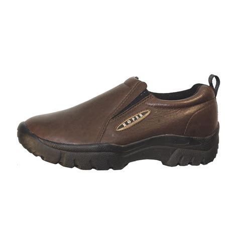 s roper 174 suede slip on shoes brown 112501
