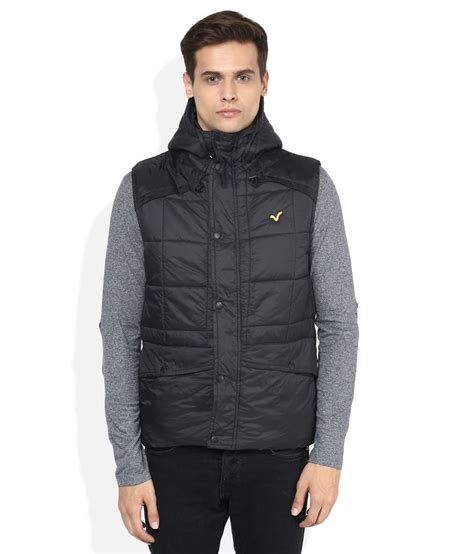 Voi Quilted Jacket Mens by Voi Black Solid Quilted Jacket Buy Voi Black