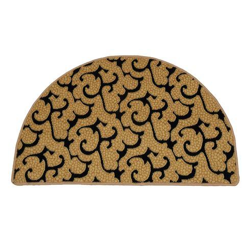 black hearth rug half beige and black hearth rug resistant rug
