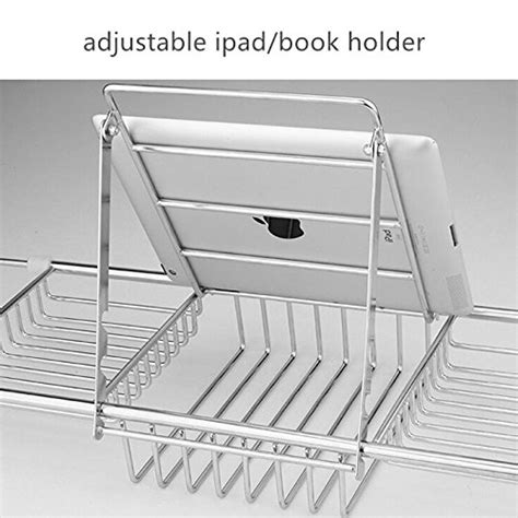 stainless steel bathtub caddy ipegtop stainless steel shower organizer bathtub caddy