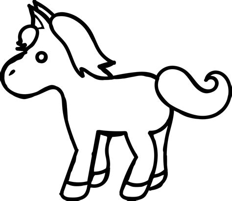 cartoon horse coloring page small cartoon horse coloring page wecoloringpage com