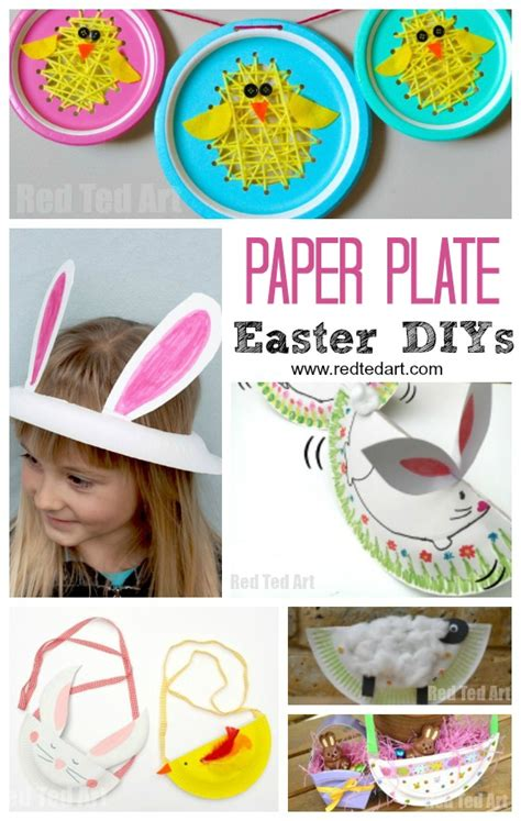 Easter Crafts With Paper Plates - paper plate easter crafts ted s