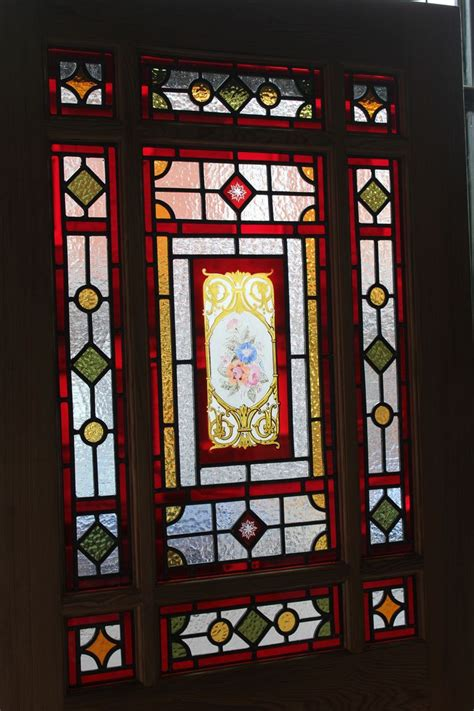 stained glass door pitch pine and oak period interior panels doors and