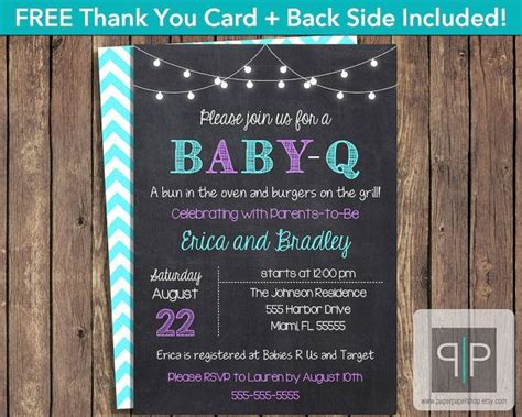 Best 25 Baby Q Invitations Ideas On Pinterest Baby Q Shower Couples Baby Showers And Coed Baby Q Invitations Templates Free